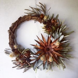 Everlasting Protea wreath